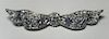 Art Deco PT Diamond Sapphire Bow Brooch
