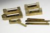 Five Chinese Brass Locks.