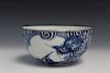 Chinese blue and white porcelain bowl. 19th C.