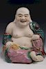 Chinese famille rose porcelain figure of a laughing Buddha.