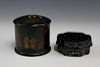 Two Chinese lacquer boxes.