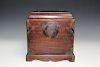Chinese hardwood jewelry box.