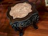 ANTIQUE Chinese Hardwood Stand with Marble top, 19th Century