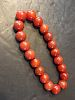 """OLD Chinese Large Beads Dark Red Agate Neckalce, 15"""""""