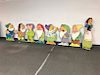 1937 SNOW WHITE SEVEN DWARVES Theater CARDBOARD CUT OUTS Licensed Old King Cole