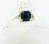 David Yurman Onyx Cushion Diamond Ring Sz 5