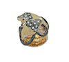 18K Rose Gold Diamond Ruby Double Snake Ring Size 6.5