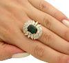 18k Yellow Gold 6.00 Ct Baguette Diamond Emerald Ring