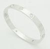 Cartier 18k Gold 4 Diamond Bangle LOVE Bracelet Size 19