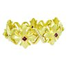 18k Gold 2.50 carat TCW VS F Diamond & Ruby Bracelet