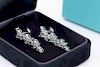 Tiffany & Co Victoria Mixed Cluster Drop Earrings