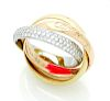 CARTIER TRINITY 18K GOLD  & DIAMOND RING