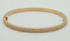Cartier 18K Rose Gold LOVE Diamond Small Bracelet