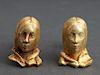 """Le Beau """"Eros"""" 18K Yellow Gold Lady Bust Cufflinks"""