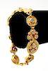 22K Yellow Gold & Diamonds Bracelet