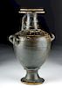 Tall Greek Gnathian Blackware Hydria
