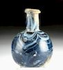 Rare Roman Marbled Glass Jar - Cobalt Blue Mosaic