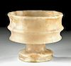 Gorgeous Bactrian Alabaster Ribbed Chalice