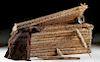 Huge Chancay Textile Weaver Basket