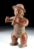 Colima Red Slipped Standing Male Flute Player