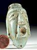 Maya Carved Jade Pendant / Amulet of a God
