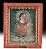 19th C. Mexican Tin Retablo - Virgin & Child