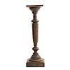 Pedestal. Francia. Siglo XX. En talla de madera de nogal. Con cubierta cuadrangular y fuste compuesto. 102 x 28 x 28 cm.