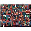 """JAVIER ARÉVALO, Letras (""""Letters""""), Signed and dated Paris 93, Screenprint LXXVII / C, 30.7 x 41.7"""" (78 x 106 cm)"""