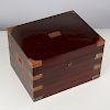 Benson & Hedges mahogany campaign style humidor