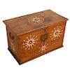 European Colonial inlaid blanket or sailor's chest
