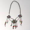 Sino-Tibetan enamel, coral, turquoise necklace