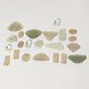 (19) jade and hardstone toggles and plaques