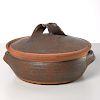 Karen Karnes, glazed stoneware covered casserole