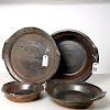 R. Bower, set (4) glazed flameware dishes