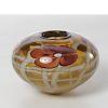 Rich Miller floral art glass vase