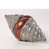 Indian repousse silver shell and copper hinged box