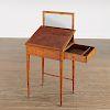 George III satinwood gentleman's dressing table