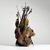 "Large Arman ""Choreographer"" Bronze Violin Sculpture"