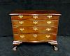 "18TH C. BOSTON CHIPPENDALE  MAHOGANY 4 DRAWER CHEST W/CLAW FEET 35""H 39""W 16""D"