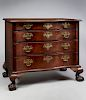 IMPORTANT CHIPPENDALE SERPENTINE FRONT CHEST OF DRAWERS, 