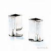 Pair of Jean Puiforcat Art Deco Sterling Silver Vases