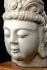 Huge 19th C. Chinese Qing Marble Bodhisattva Head