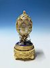 The House Of Faberge Swan Lake Imperial Jeweled Musical Gilt Silver Egg,