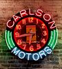 Large Vintage Neon Ferrari Sign Carlton Motors 1980's