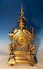 Large 19th Century French Ormolu Bronze & Champleve Enamel Clock