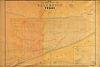 """AN ANTIQUE MAP, """"Plan of the City of Galveston Texas,"""" CIRCA 1845,"""