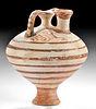 Mycenaean Bi-chrome Piriform Stirrup Vessel