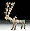 Luristan Leaded Copper Stag Pendant