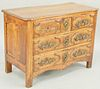 Louis XVI Provincial Walnut Commode, three drawers over two drawers, 18th century (old split in top). height 30 inches, width 42 inches, depth 19 inch