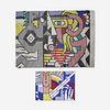 After Roy Lichtenstein, Weaving Cartoon for Roy Lichtenstein's Amerind Landscape Tapestry